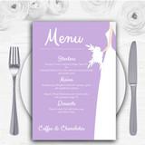 Lilac Bride Personalised Wedding Menu Cards