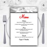 Grey Lily Personalised Wedding Menu Cards
