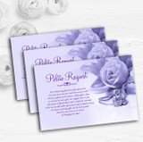 Lilac And Purple Rose Ring Personalised Wedding Gift Request Money Poem Cards