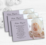 Lilac Rose Pearls Personalised Wedding Gift Cash Request Money Poem Cards