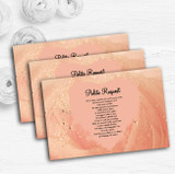 Peach Pink Pretty Personalised Wedding Gift Cash Request Money Poem Cards