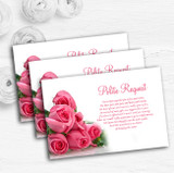 Pink Pretty Roses Personalised Wedding Gift Cash Request Money Poem Cards