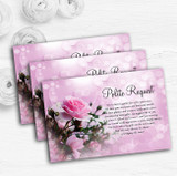 Pink Rose Bubbles Personalised Wedding Gift Cash Request Money Poem Cards