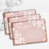 Rustic Blush Lace Personalised Wedding Gift Cash Request Money Poem Cards