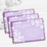 Rustic Lilac Lace Personalised Wedding Gift Cash Request Money Poem Cards