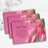 Warm Pink Flowers Personalised Wedding Gift Cash Request Money Poem Cards