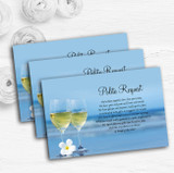 Wine On The Beach Personalised Wedding Gift Cash Request Money Poem Cards