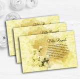 Yellow Cream Lace Personalised Wedding Gift Cash Request Money Poem Cards