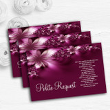 Beautiful Purple Personalised Wedding Gift Cash Request Money Poem Cards