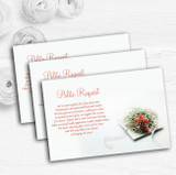 Peach Coral Rose Personalised Wedding Gift Cash Request Money Poem Cards