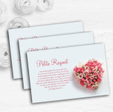 Pink Heart Roses Personalised Wedding Gift Cash Request Money Poem Cards