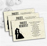 Traditional Chic Personalised Wedding Gift Cash Request Money Poem Cards