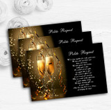 Black Champagne Personalised Wedding Gift Cash Request Money Poem Cards