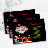Las Vegas Strip Personalised Wedding Gift Cash Request Money Poem Cards