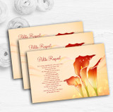 Red Orange Lily Personalised Wedding Gift Cash Request Money Poem Cards