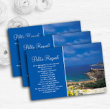 Malta Abroad Personalised Wedding Gift Cash Request Money Poem Cards
