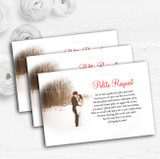 White Winter Personalised Wedding Gift Cash Request Money Poem Cards