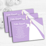 Lilac Bride Personalised Wedding Gift Cash Request Money Poem Cards