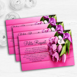Pink Tulips Personalised Wedding Gift Cash Request Money Poem Cards