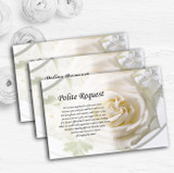 White Rose Personalised Wedding Gift Cash Request Money Poem Cards