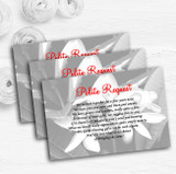 Grey Lily Personalised Wedding Gift Cash Request Money Poem Cards