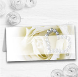 Cream Ivory Rose Heart Wedding Table Seating Name Place Cards