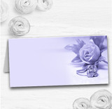 Lilac And Purple Rose Ring Wedding Table Seating Name Place Cards