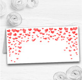 Red Heart Confetti Wedding Table Seating Name Place Cards