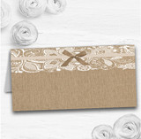 Vintage Burlap & Lace Wedding Table Seating Name Place Cards