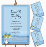 Wine On The Beach Personalised Wedding Order Of The Day Cards & Signs