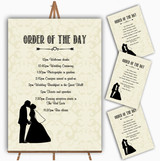 Traditional Chic Personalised Wedding Order Of The Day Cards & Signs