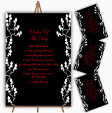 Black White Red Personalised Wedding Order Of The Day Cards & Signs
