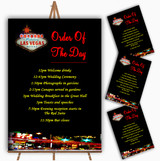 Las Vegas Strip Personalised Wedding Order Of The Day Cards & Signs