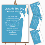 Turquoise Bride Personalised Wedding Order Of The Day Cards & Signs