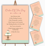 Classical Cake Personalised Wedding Order Of The Day Cards & Signs