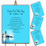 Miami Florida Personalised Wedding Order Of The Day Cards & Signs