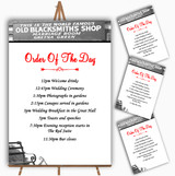 Gretna Green Personalised Wedding Order Of The Day Cards & Signs