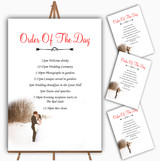 White Winter Personalised Wedding Order Of The Day Cards & Signs