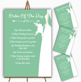 Green Bride Personalised Wedding Order Of The Day Cards & Signs