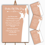 Peach Bride Personalised Wedding Order Of The Day Cards & Signs