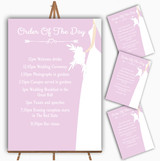 Pink Bride Personalised Wedding Order Of The Day Cards & Signs