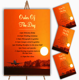 New York Personalised Wedding Order Of The Day Cards & Signs