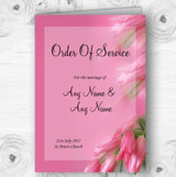 Warm Pink Flowers Personalised Wedding Double Sided Cover Order Of Service