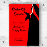 Red Black Bride Personalised Wedding Double Sided Cover Order Of Service