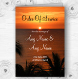 Florida Sunset Personalised Wedding Double Sided Cover Order Of Service