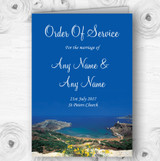 Malta Abroad Personalised Wedding Double Sided Cover Order Of Service