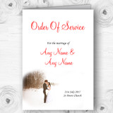 White Winter Personalised Wedding Double Sided Cover Order Of Service