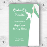 Green Bride Personalised Wedding Double Sided Cover Order Of Service