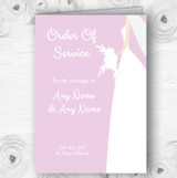 Pink Bride Personalised Wedding Double Sided Cover Order Of Service