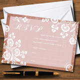 Rustic Blush Lace RSVP Cards